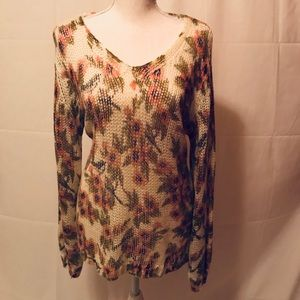 Trendy floral sweater